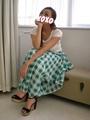 【モデル・スタッフ着用商品】ブロックチェック柄ロングスカート