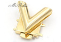 バッグ用ゴールドV字型プッシュ式金具