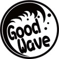 NAMI-2-4:GoodWave  (サーフィン)ステッカー(2マーク1セット)