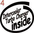 CIO-004:TURBO inside ステッカー(2マーク1セット)
