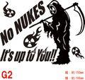 NUKE-G2:脱原発(原発反対・核廃棄) No NUKES!! ステッカー