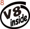 CIO-008:V8 inside ステッカー(2マーク1セット)