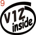 CIO-009:V12 inside ステッカー(2マーク1セット)