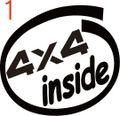 CIO-001:4×4 inside ステッカー(2マーク1セット)