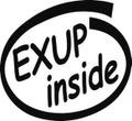 BI-004:EXUP inside ステッカー(2マーク1セット)
