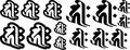 BOE8-004:キリーク/阿弥陀如来/戌・亥・S 干支梵字 ステッカー