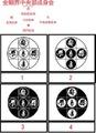 BONJ-004:金剛界中央部成身会・S 梵字 ステッカー