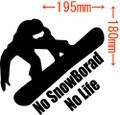 NLSB-009:No SnowBoard No Life (スノーボード)ステッカー・9