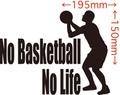 NLBSB-004:No Basketball No Life  (バスケットボール)ステッカー・4