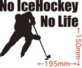 NLIH-001:No IceHockey No Life (アイスホッケー)ステッカー・1