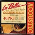 La Bella ラベラ 40PR 13-54 Golden Alloy Regular アコースティックギター弦 900円