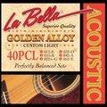 La Bella ラベラ 40PCL 11-52 Golden Alloy Custom Light アコースティックギター弦 900円