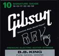 Gibson B.B. King Signature  エレキ弦 SEG-BBS Pure Nickel 10-54   1500円