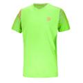 ビディバドゥ Bidi Badu アロテック ラウンドネックTシャツ Aro Tech Round-Neck Tee - neongreen/orange/blue (HW18)