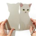 【choochoo】 猫のグリーティングカード グレイ