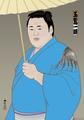 中判錦絵(プリント):玉鷲