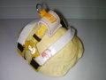 リクガメ専用ハーネス 黄色水玉 マリン