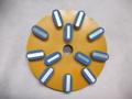 8インチ(200ミリ) #400 Z5 石材用メタル研磨盤 レジ巻きタイプ   (税抜き20000円 税2000円)