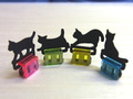 ☆便利!簡単!可愛い♪スライドクリップ猫 クリア(650)