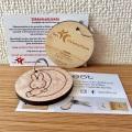 ユトレヒトの木使用het Sikkelcelfonds鎌状赤血球症基金サポート/ミッフィー&メラニー木製キーリング