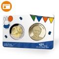 【コインカード】nijntje65記念2ユーロセント+ブルーナメダル KNM王立オランダコイン会社製