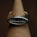 [OILRing002] OIL RING Cursive Style