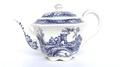 JAMES SADLER BRIGADOON BLUE & WHITE 1 CUP TEAPOT:ジェームズ サドラー ブリガドーン 青と白の1カップ用 ティーポット