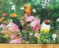 布「鳥」リアルプリント