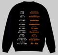 オランダ語(あいさつ)トレーナー 3XL~4XL  DUTCH GREETINGS Sweatshirt