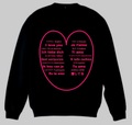 ハート トレーナー S~2XL I LOVE YOU Sweatshirt