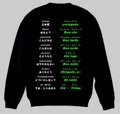 ポルトガル語(あいさつ)トレーナー 3XL~4XL  PORTUGUESE GREETINGS Sweatshirt