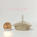 アーチオーバル型ワンハンドル 透かし編みバスケットL#1