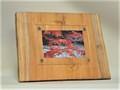 木製フォトフレーム KG版はがきサイズ壁掛け対応 No.3 欅