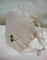 オーガニックコットン☆クローバー刺繍立体マスク☆ハンドメイド