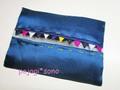 松の実飾り付き ティッシュケースのキット ■ ターコイズブルー