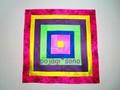 虹模様のポジャギ(ムジゲポ)キット ★ヤンダン35cm正方形
