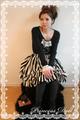 2043 Dollストライプスカート