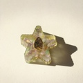心身の癒し・浄化:星型オルゴナイトクリアー&イエロー1