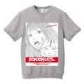 M with Beesuke スウェットTシャツ(gray)(文字赤)