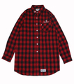 CROWN LONG NEL SHIRTS (RED)