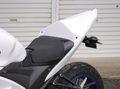 YZF-R25 シングルシート/レース/白ゲル*ファスナーver*シート高20mm up