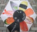 日本文化 折りタタミ傘 寿司