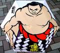 日本文化 折りタタミ傘 相撲