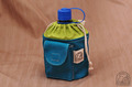 1QTキャンティーン収納袋(帆布青+黄緑)