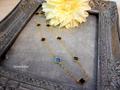 お花パーツのロングネックレス(B)