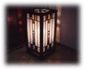 ステンドグラス和風行灯『懐かしの団欒』