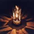 ステンドグラス八角行灯 『雪の輝き』
