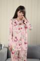 アトピー パジャマ 大人の寝汗対策に シルクニット Tシャツ2-2 部屋着ok 花柄ペイズリー絹 送料無料