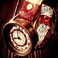 真鍮と本革ベルトの腕時計教室