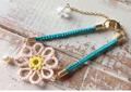 【お教室】タティングレースで編むお花のブレスレットお教室